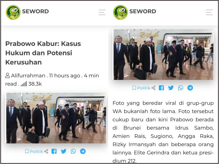 Hoax Prabowo Kabur ke Brunei