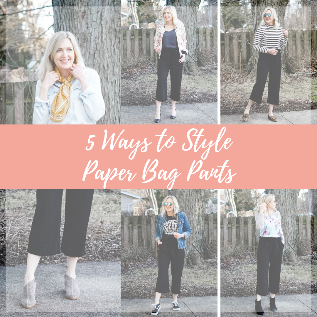 5 ways to style paper bag pants