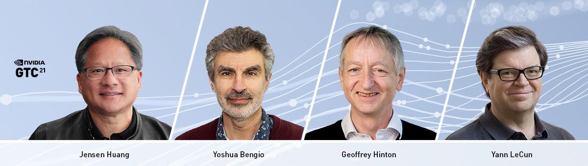 A NVIDIA Enterprise anuncia que o CEO e fundador Jensen Huang hospedará os renomados pioneiros de Inteligência Artificial (IA) Yoshua Bengio, Geoffrey Hinton e Yann LeCun na próxima conferência de tecnologia da empresa, GTC21, que ocorrerá de 12 a 16 de abril.