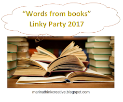 "Linky Party ""Words from books"" by Marina"