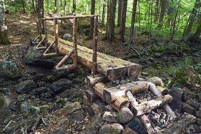 Northville-Placid Trail timber bridge