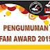 Selamat Anda Terpilih Sebagai Penerima Penghargaan FAM Award 2019!