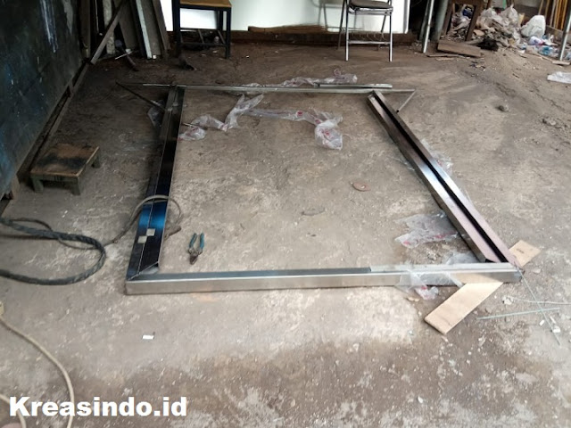Pintu Stainless Doble Plat Luar Dalam pesanan PT Mitra Bersama untuk Projek Gedung Al Hijaz Cawang Jakarta