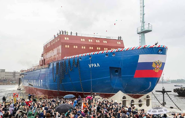 The Ural, Nuclear-powered icebreaker launched in St. Petersburg