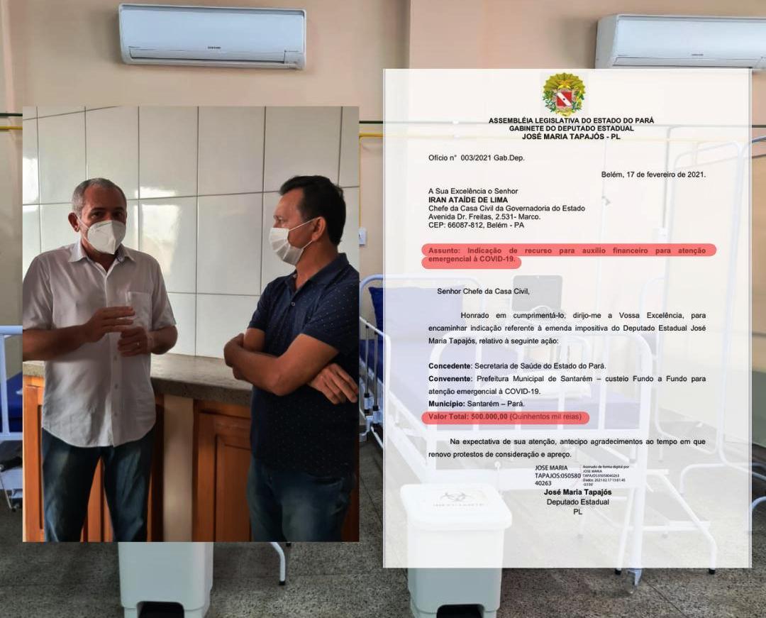 Emenda parlamentar de Zé Maria vai garantir R$ 500 mil para hospital de campanha