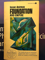 Foundation and Empire,  by Isaac Asimov, superimposed on Intermeidate Physics for Medicine and Biology.
