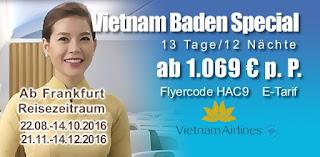 Vietnam Baden Flugspecial von Vietnam Airlines