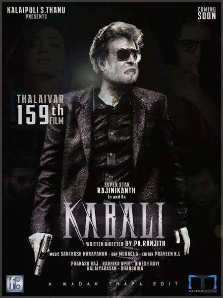 Poster Of Kabali 2016 480p Hindi CAMRip Full Movie Download