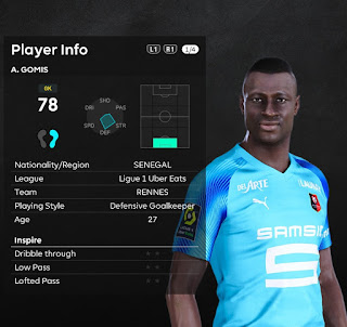PES 2021 Faces Alfred Gomis