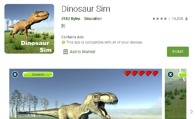 dinosaur game ps4