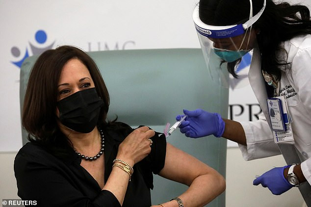Video: US Vice President-elect, Kamala Harris receives her first dose of Moderna's COVID-19 vaccine live on TV