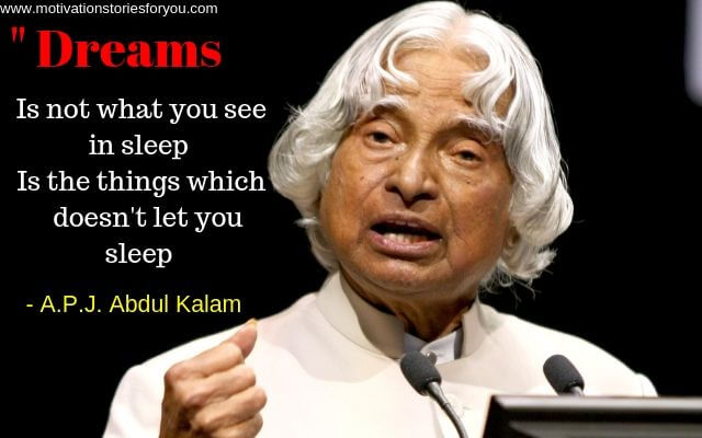 Story of successful person APJ Abdul Kalam