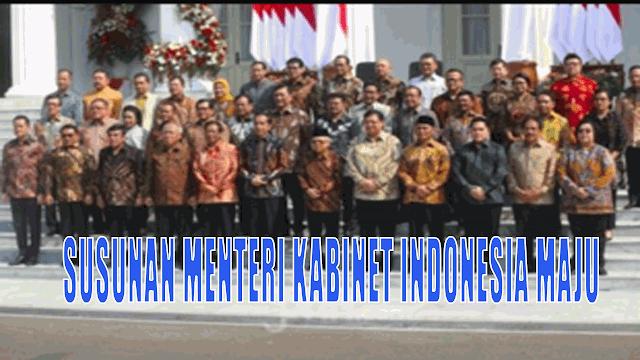 Susunan Menteri Kabinet Indonesia Maju Periode 2019-2024