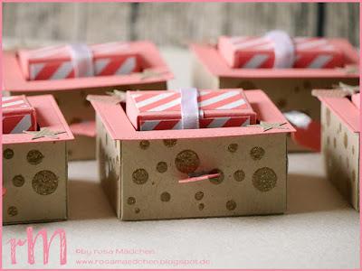 Stampin' Up! rosa Mädchen Kulmbach: Drehbox mit Metallicgarn, Perpetual Birthday Calendar, Pictogram Punches und Itty Bitty Accents