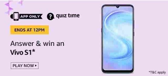 Amazon Quiz answers today 8 July 2020 | Win VIVO S1