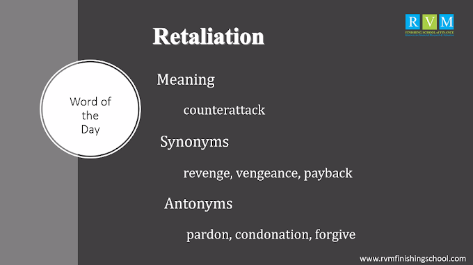 """Word Of The Day """"Retaliation"""""""