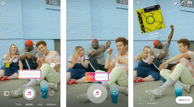 cara tambah musik di instagram story dengan stiker musik baru