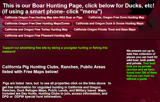hunting and fishing maps and reports oregon and california
