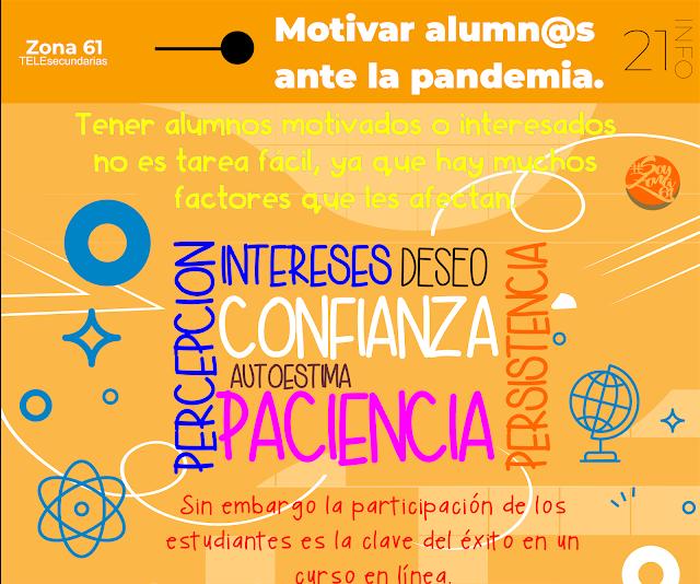 INFOGRAFIA: Motivar a los alumnos ante la pandemia.