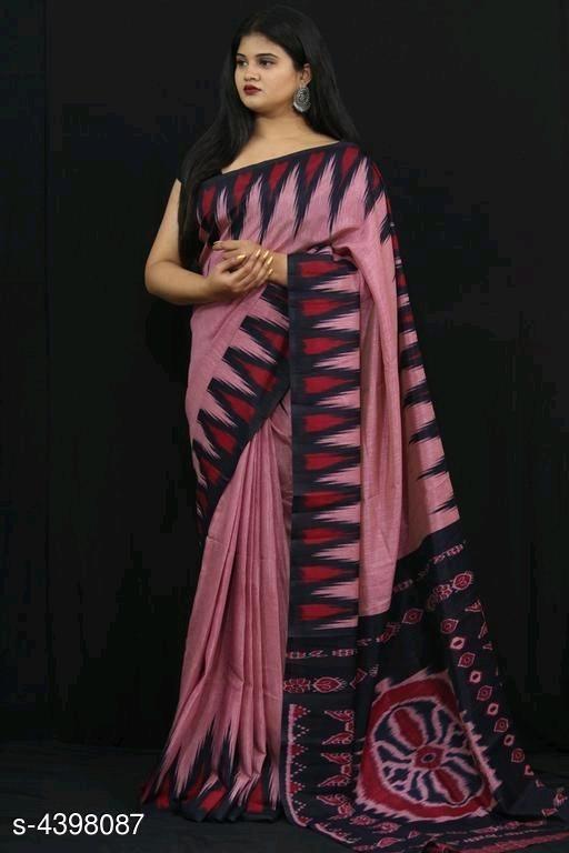Attractive Linen Jute Women Sarees