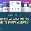 Perbedaan Landing page dan Website bagusan yang mana ?