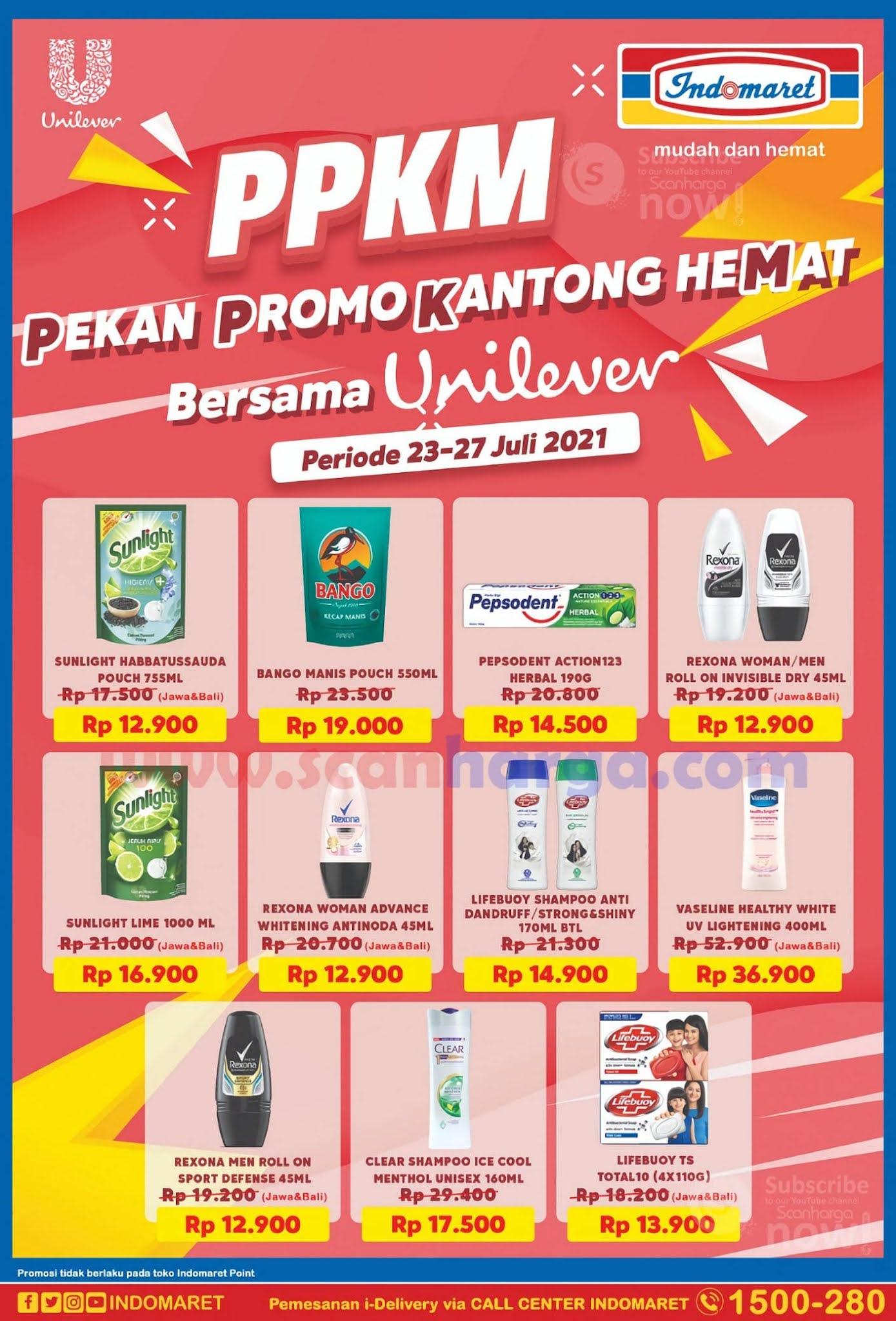 Indomaret PPKM (Pekan Promo Kantong Hemat) Periode 23 - 27 Juli 2021