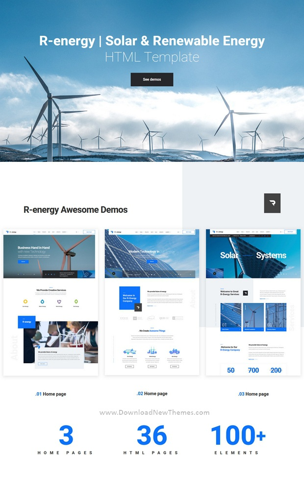 Best Solar & Renewable Energy Website Template