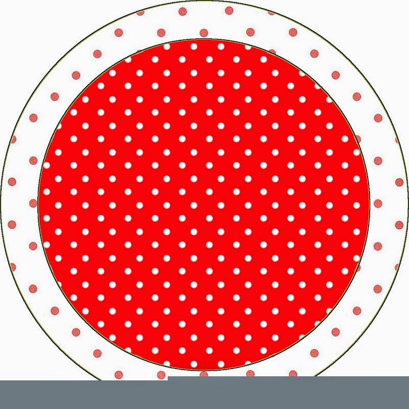 Toppers or Free Printable Red and White Polka Dots Candy Bar Labels.