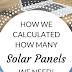 Estimating Your Solar Needs!