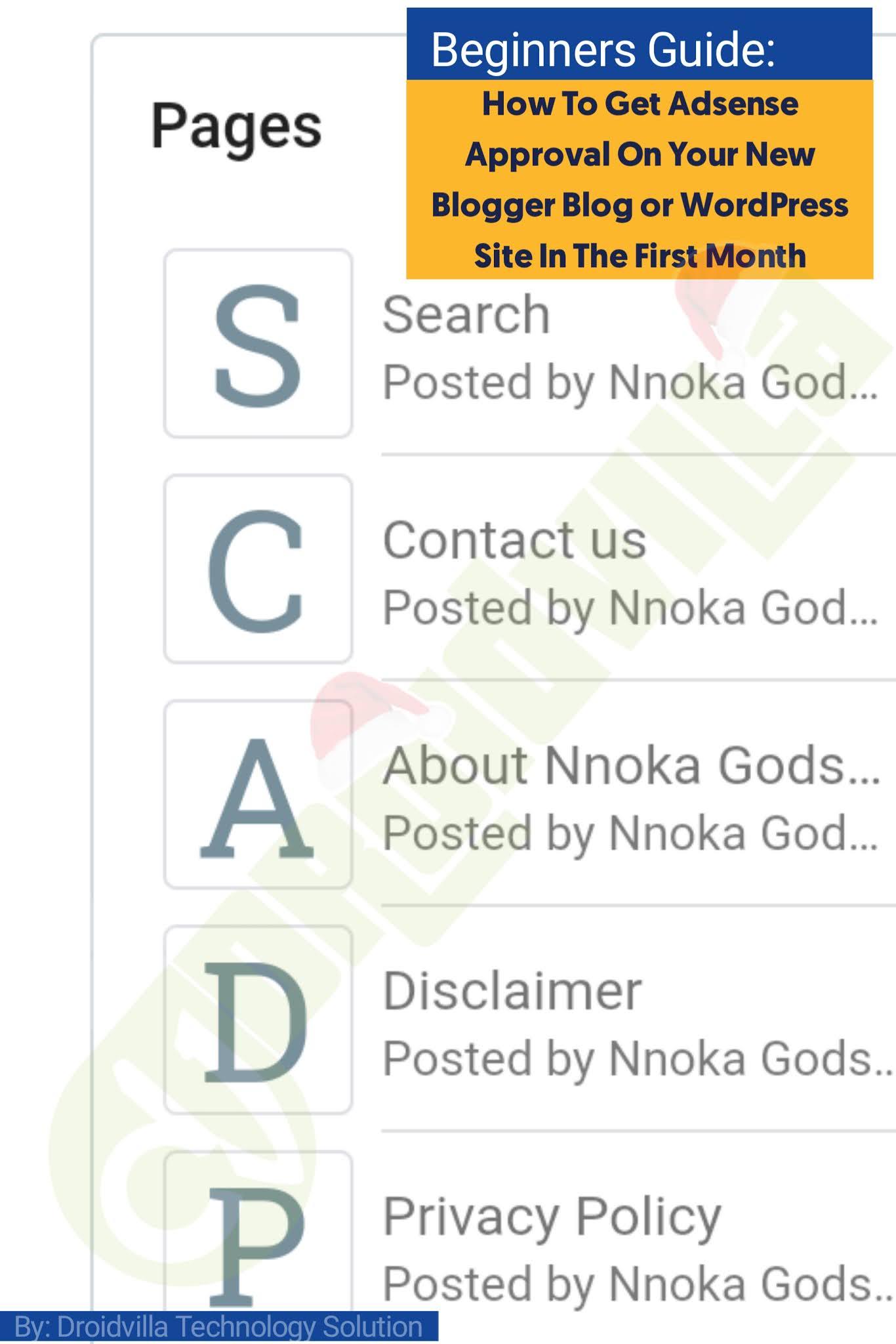Adsense Google blogger blog
