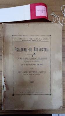 Relatório apresentado a Aníbal Loureiro - IM/EA/SE/R-001