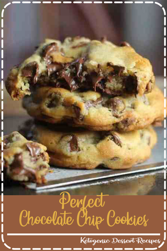 """Ingredients  1 cup unsalted butter melted and cooled at least 10 minutes (226g) 1 ¼ cup brown sugar tightly packed (250g) 1/2 cup sugar (100g) 1 large egg + 1 yolks (room temperature preferred)* 1 ½ teaspoon vanilla extract 2 ¾ cups all-purpose flour (350g) 2 teaspoons cornstarch 1 teaspoon baking soda 3/4 teaspoon salt 1 3/4 cup semisweet chocolate chips (plus additional for tops, optional) (300g + additional)     Instructions  Combine melted butter and sugars in a large bowl. Stir very well. Add egg and egg yolk, stir well. Stir in vanilla extract. Set aside. In a medium-sized bowl, whisk together flour, cornstarch, baking soda, and salt. Gradually add flour mixture to wet ingredients -- stir well so that all the flour is absorbed. Stir in chocolate chips. Place dough in refrigerator and chill for 30 minutes. Preheat oven to 350F (177C) and prepare cookie sheets by lining with parchment paper. Scoop dough by rounded 1 1/2 Tablespoon onto prepared cookie sheets, placing at least 2"""" apart. Bake on 350F (177C) for 11 minutes -- cookies may still seem slightly soft in the centers, that is OK, they will cook completely on the cookie sheets. Don't over-bake or your cookies will be too hard. If desired, gently press additional chocolate chips into the tops of the warm cookies. Allow to cool completely on cookie sheets. Enjoy! Recipe Notes *You can quickly bring eggs to room temperature by placing them in a bowl of warm water for 10-15 minutes. Nutrition information provided is an estimate and will vary based on cooking methods and brands of ingredients used. NUTRITION INFORMATION Calories: 138, Fat: 6g, Saturated Fat: 4g, Cholesterol: 14mg, Sodium: 67mg, Potassium: 58mg, Carbohydrates: 17g, Sugar: 10g, Protein: 1g, Vitamin A: 135%, Calcium: 12%, Iron: 0.9%  (Nutrition information provided is an estimate and will vary based on cooking methods and brands of ingredients used.)"""