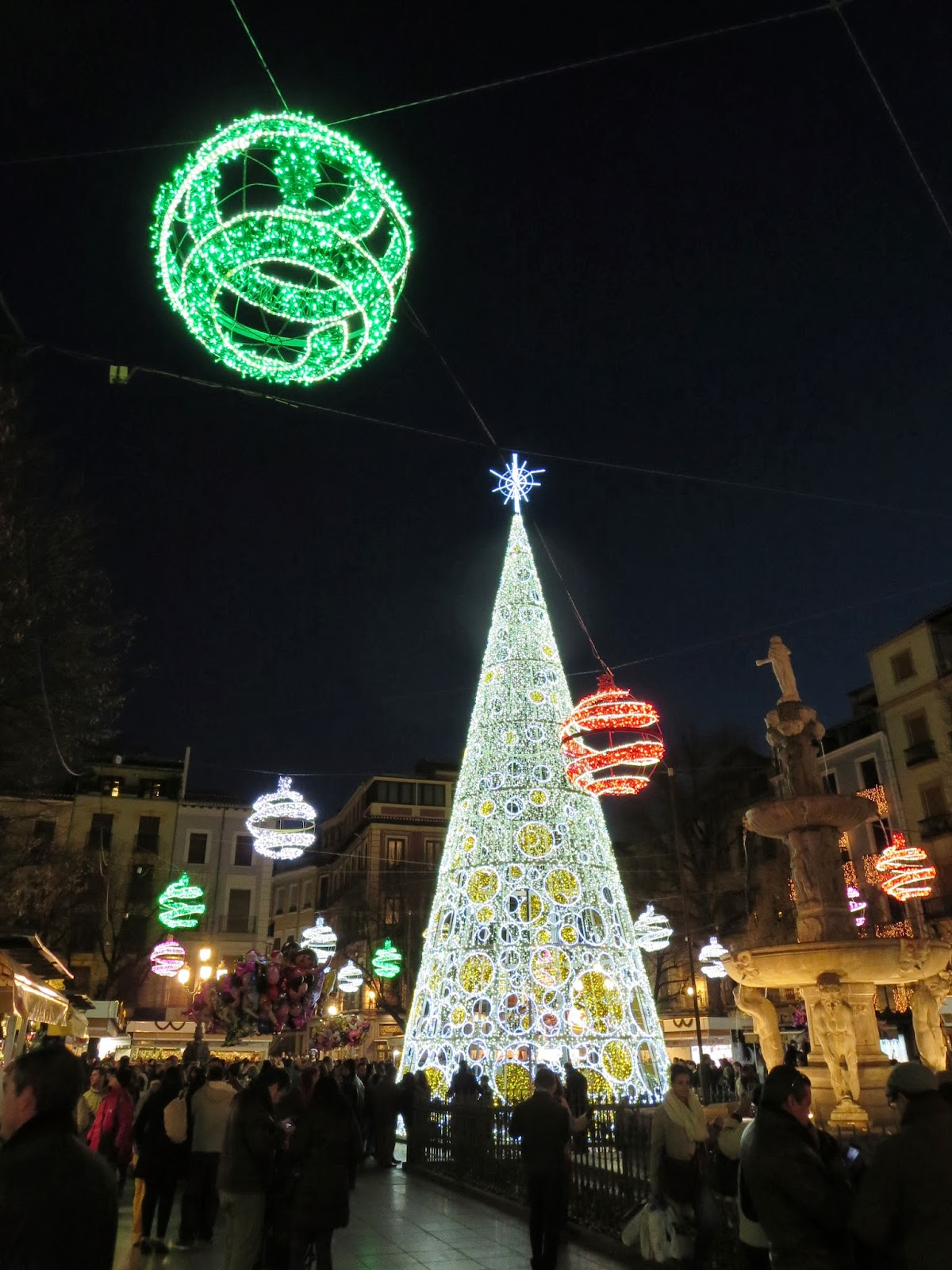 Christmas Tree in Granada, Spain