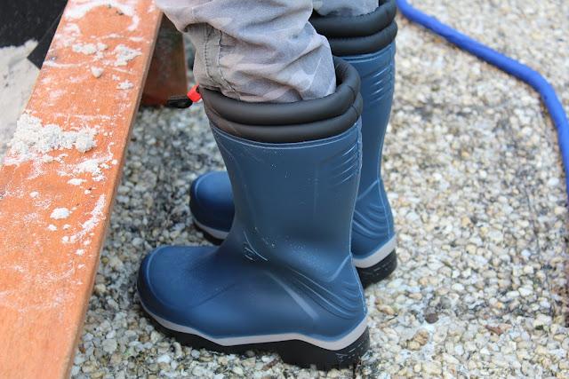 bottes d'hiver chaude et bleus