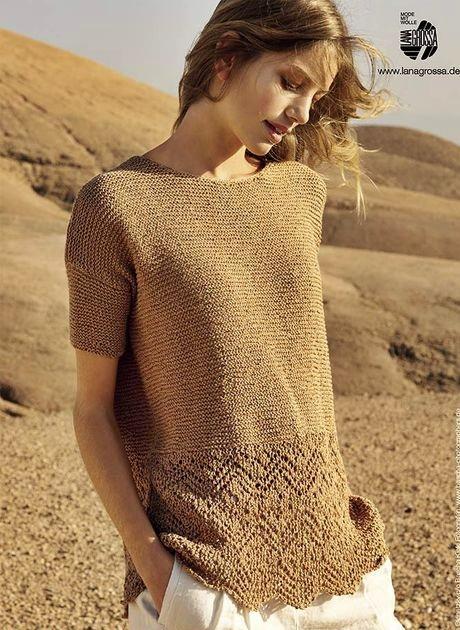bluzka na drutach