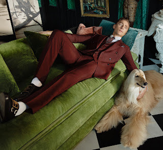 Tom Hiddleston in Gucci's cruise 2017 tailoring campaign. Photo: Glen Luchford