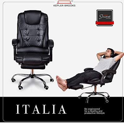 ITALIA Office chair with leg rest for WFH