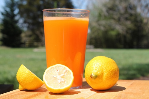 Method of action of lemon and orange juice