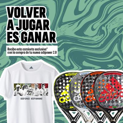 """¿Ya tienes la tuya? Adidas Pádel lanza la campaña """"Volver a Jugar es Ganar"""" enviándote una camiseta exclusiva."""