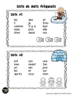 liste de mots fréquents