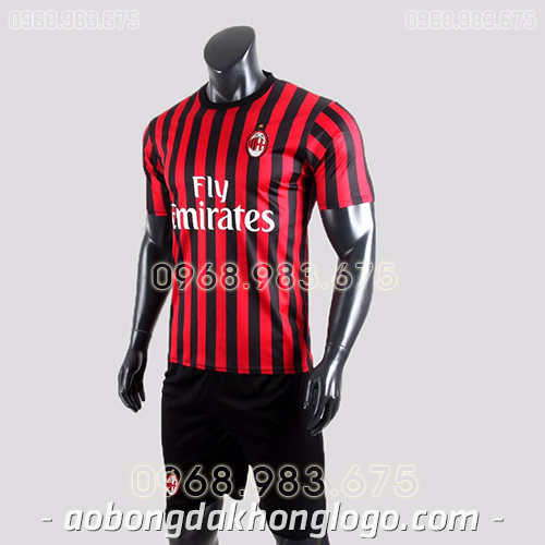 Áo CLB AC Milan màu đỏ đen 2020