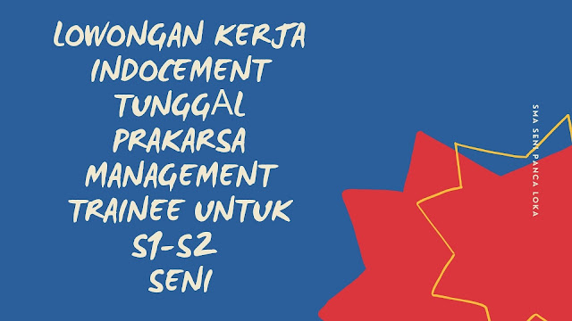 lowongan kerja indocement management trainee