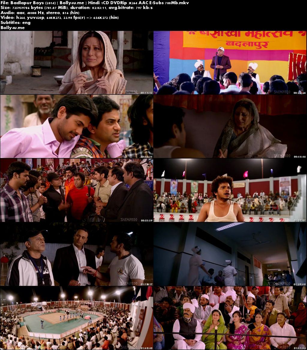 Badlapur Boys 2014 DVDRip 350MB Hindi 480p ESub Download