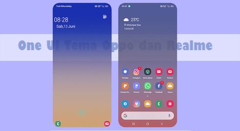 One UI Tema Oppo ColorOs 5, 6, 7 dan Realme UI Tembus Aplikasi