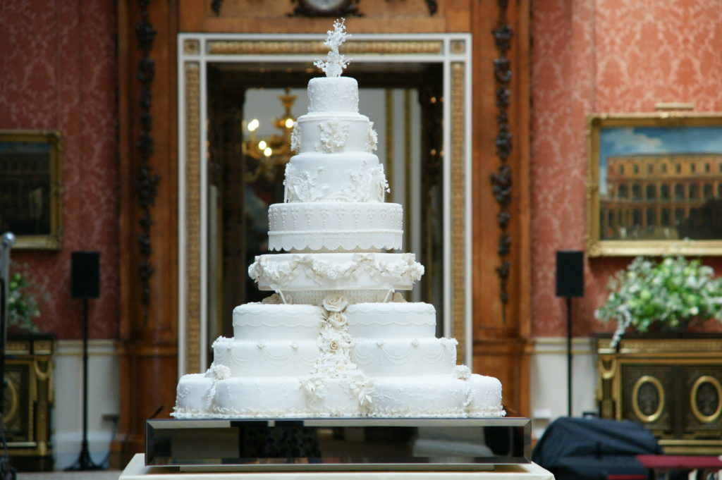 The Wedding cake of Duke and Duchess of Cambridge's marriage