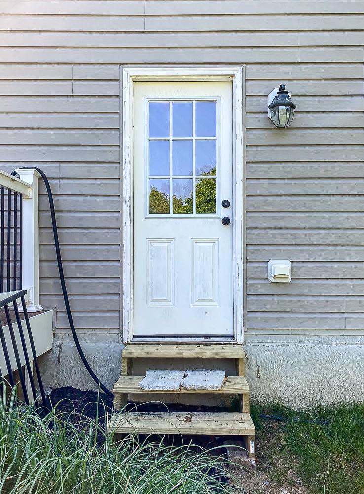 Exterior door before