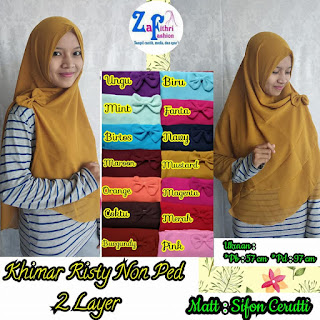 khimar risty non pet sifon 2 layer