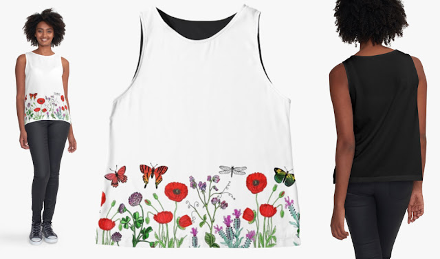 Bestselling Watercolor Floral Pattern Top Artist Irina Sztukowski