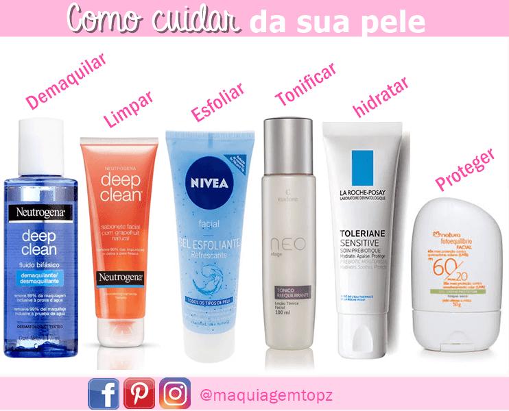 Como cuidar da pele com passos simples