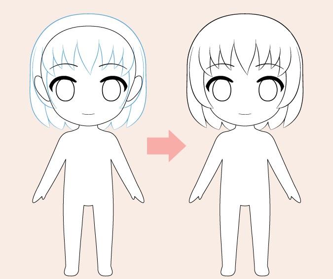 Gambar rambut anime Chibi